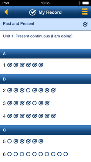 English Grammar in Use: Sample Screenshot