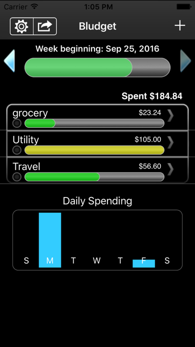 Bludget screenshot one