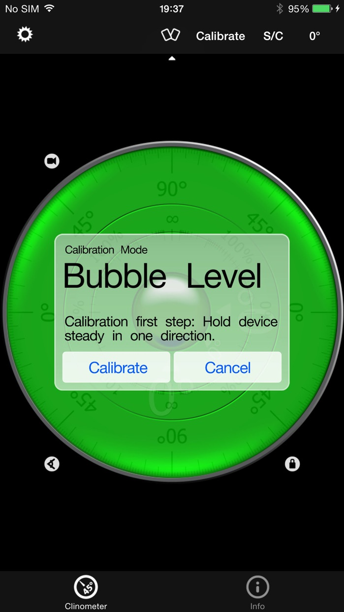 Clinometer + bubble level + slope finder (3 in 1) Screenshot