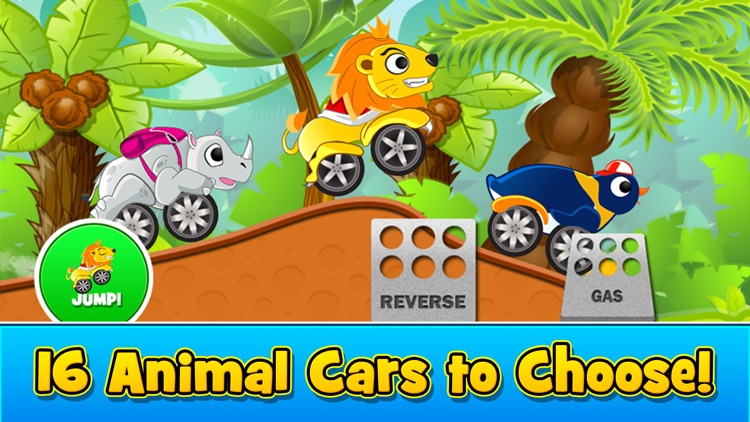 Animal Cars Kids Racing Game screenshot-1