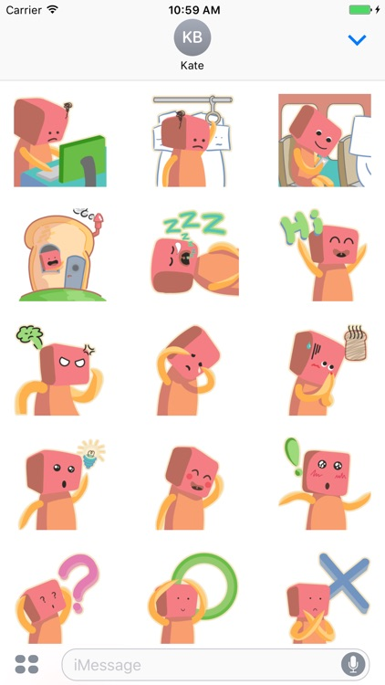 Toaster Head Stickers