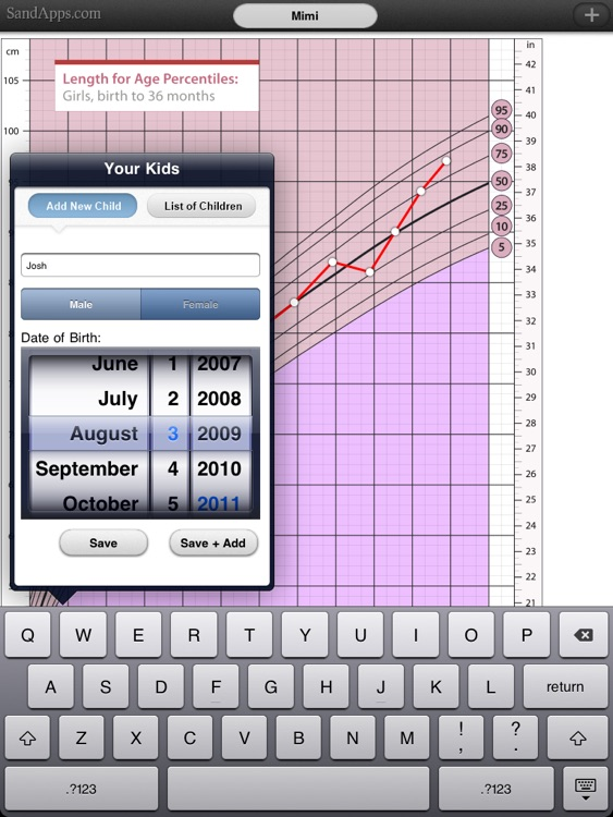 Growth Charts for Babies, Children, Infants screenshot-4