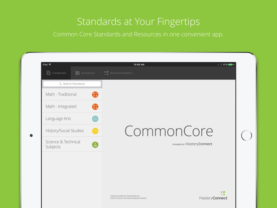 Common Core Standards Screenshot 0