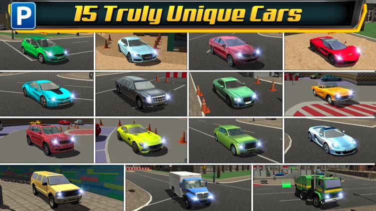 Multi Level 4 Car Parking Simulator a Real Driving Test Run Racing Games screenshot-1