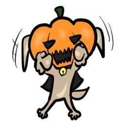 Pumpkin dog Stickers