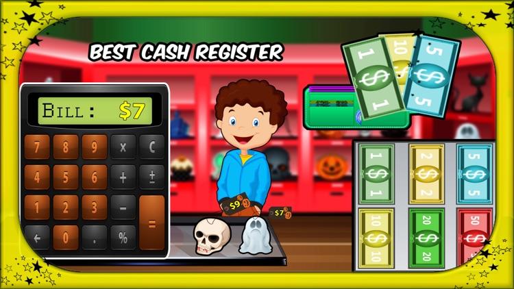 Halloween Supermarket Shopping- Store Cashier screenshot-3
