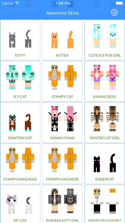 Beautiful Cat Skins - Cat Skins for Minecraft PE