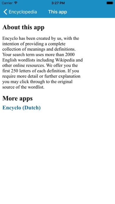 Encyclopedia (EN) screenshot four