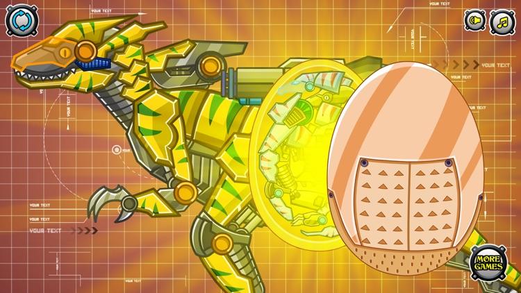 Steel Dino Toy:Mechanic Raptors - 2 player game