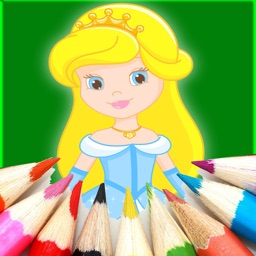 Girls Princess Coloring Pages Education Game