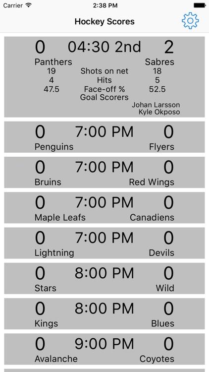 Hockey Scores App