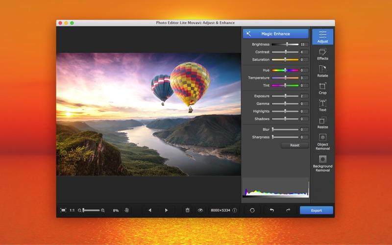 Photo Editor Lite Movavi: Adjust & Enhance   App Price Drops