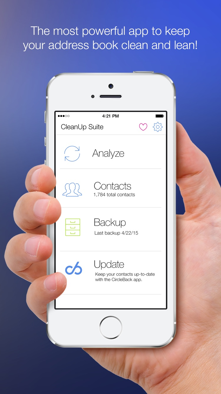Cleanup Duplicate Contacts! Screenshot