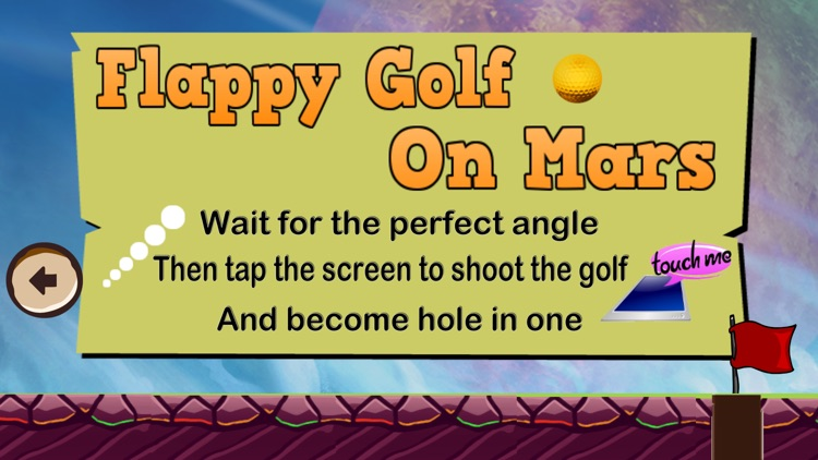 Flappy Golf on Mars Free Game screenshot-3