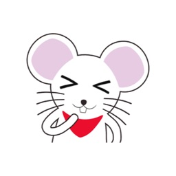 White Mouse Animated Stickers
