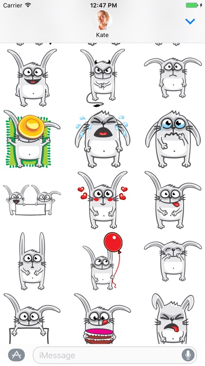 Funny Rabbit - Stickers for iMessage