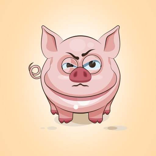Adorable Pig Emoji Stickers