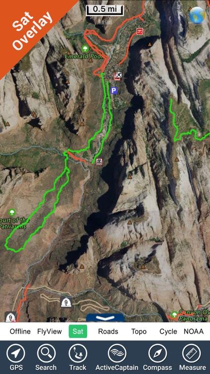 Zion National Park - GPS Map Navigator