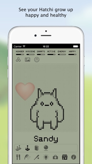 Hatchi - A retro virtual pet Screenshot