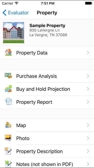 Property Evaluator review screenshots