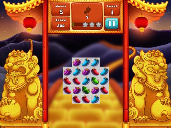 The Lion Dance Match The Fire Crackers Puzzle-ipad-0