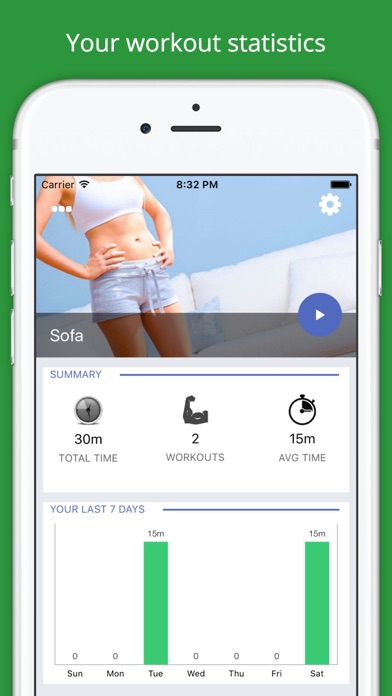 Home Sofa Workout Challenge PRO - Lose Weight screenshot one