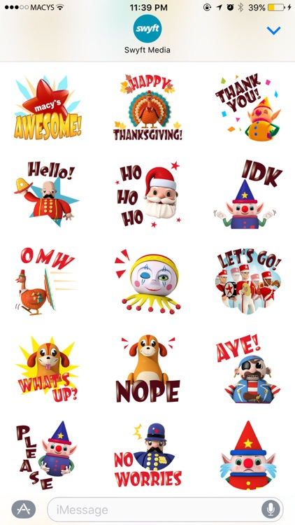 Macy's Thanksgiving Day Parade Stickers Pack screenshot-3