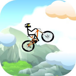 Stickman Bicycle Mountain Climbing