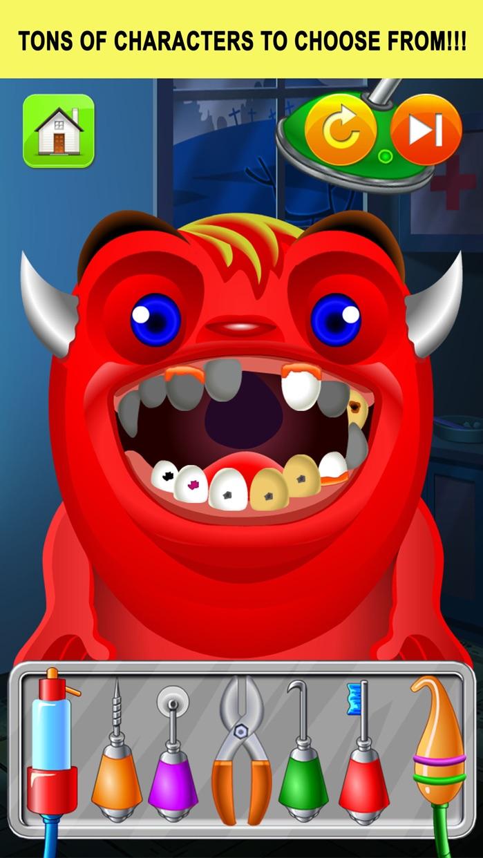 Monster Dentist Doctor Shave - Kid Games Free Screenshot