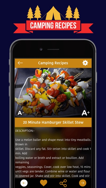 *** Camping Recipes *** screenshot-3