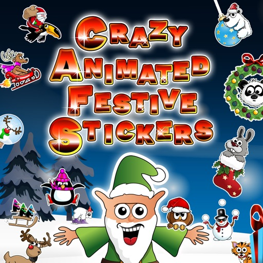 Crazy Animated Festive Stickers