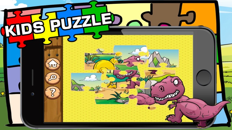 Dino Puzzle : Kids Dinosaurs Jigsaw Learning Games screenshot-3