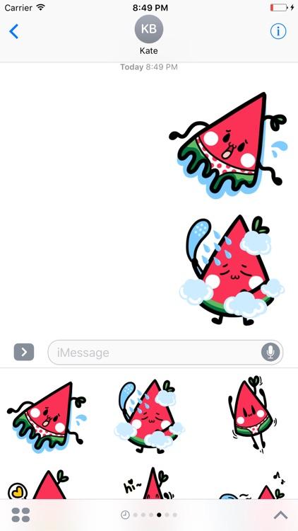 Watermelon Emoticon stickers