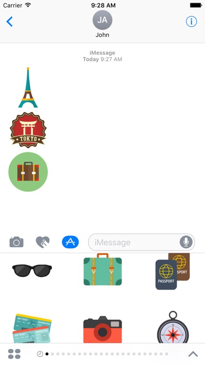Travel Stickers Pack For iMessage