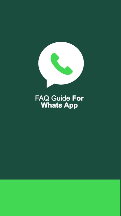FAQ Guide For WhatsApp