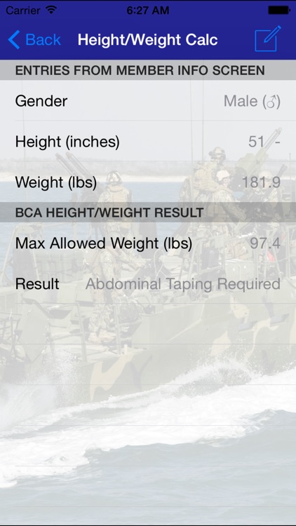 Navy PFA Calc screenshot-2