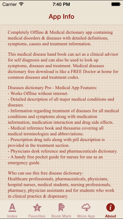 Diseases Dictionary Offline: Pro screenshot-4
