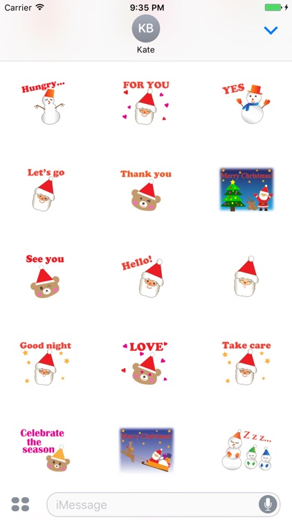 Pleasant Santa Claus Sticker
