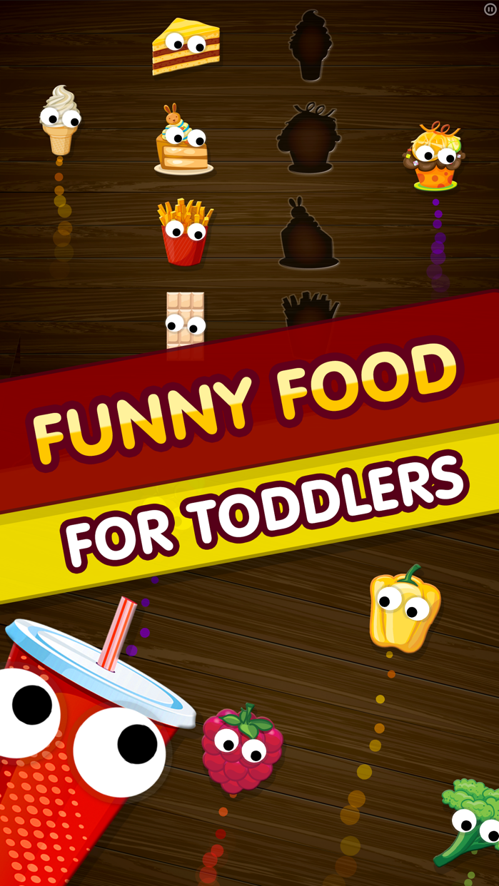 Kids Food Games: Toddlers, Boys Girls Puzzle Free Screenshot