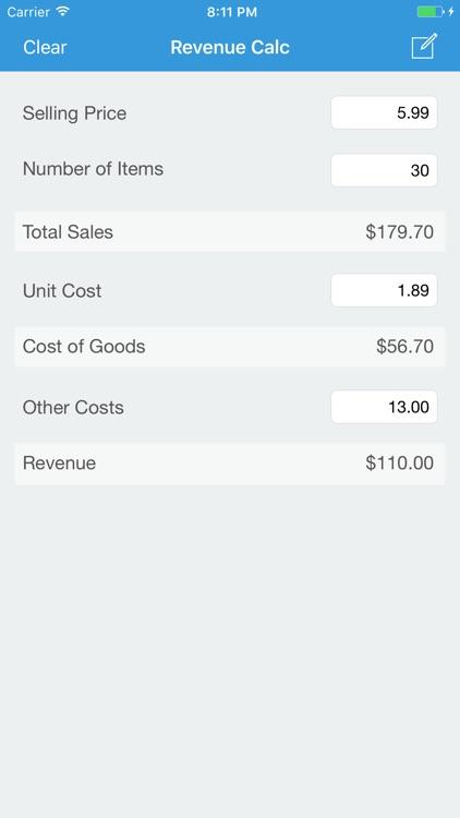 Revenue Calc - Business Profit Analysis