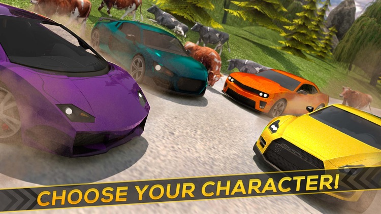 Cows Cars Extreme Funny Car Driving For Free Screenshot 2