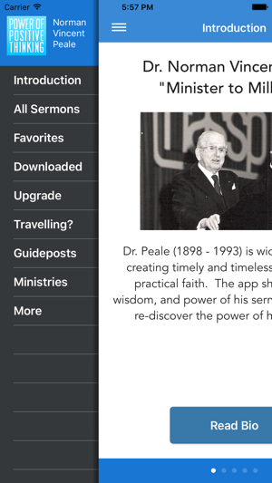 dr norman vincent peale on the app store rh itunes apple com Norman Vincent Peale Booklets Norman Vincent Peale Positive-Thinking