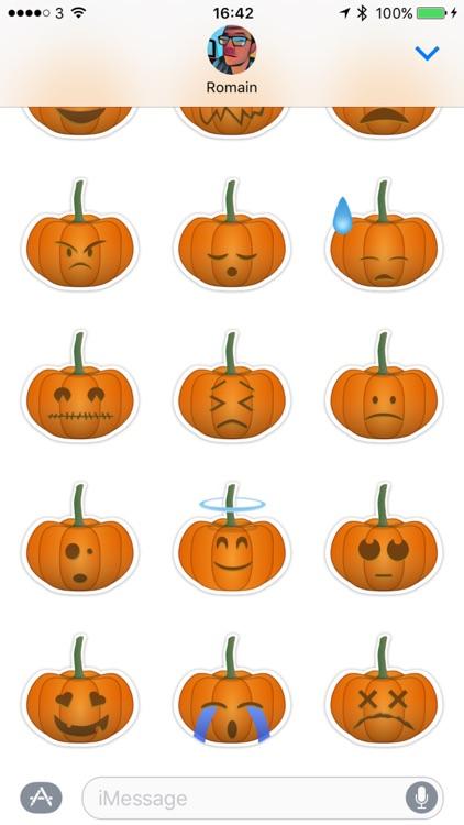 Pumpkin emoji Stickers for Halloween