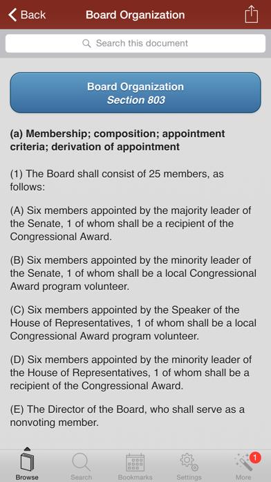 US Code of Federal Regulations screenshot one