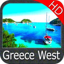Marine: Greece West HD - GPS Map Navigator