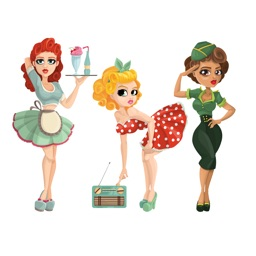 Pin Up Girl Sticker: Retro women, cars & warplanes
