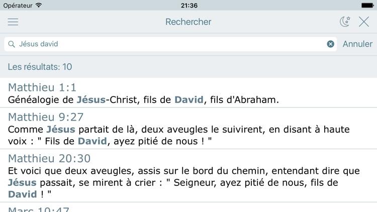 La Bible Catholique Audio Catholic Bible in French screenshot-3