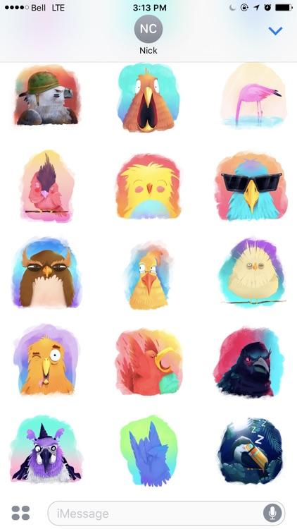 Strange Birds Stickers