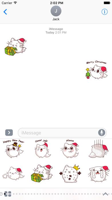 Cat Winter Christmas Stickers screenshot three