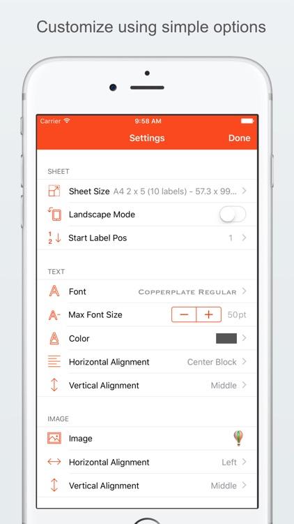 Label Printer - Create and Print Labels screenshot-3